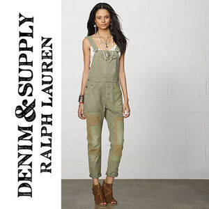 Denim & Supply Brower overalls army olive green